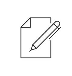 document with pen vector image
