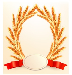 Ears of wheat with label vector image vector image