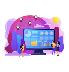 Environment data analytics concept vector