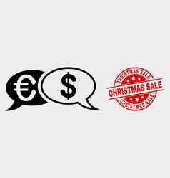 financial chat messages icon and distress vector image