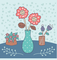 Flower vase editable vector