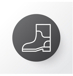 Gardening shoes icon symbol premium quality vector