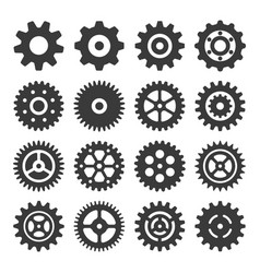 gear icon set silhouette vector image