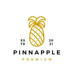 gold pine apple logo icon vector image