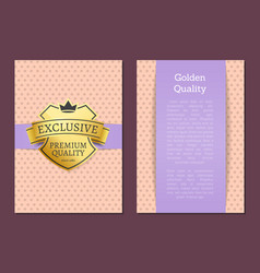 golden guality exclusive premium brand since 1980 vector image