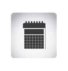 gray emblem calendar icon vector image