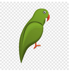 green parrot icon cartoon style vector image