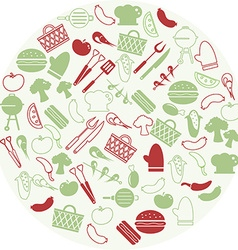 Grilling icons vector image