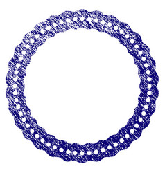Grunge textured dotted rosette circular frame vector