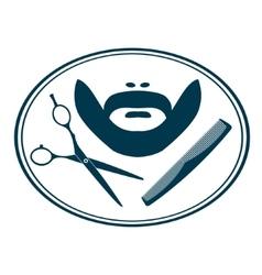 Hairdresser barber label vector