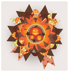 Halloween decor element vector image