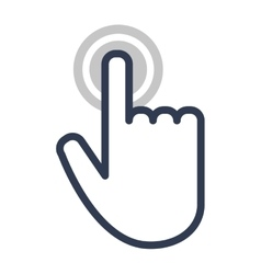 Hand touch cursor digital icon vector image