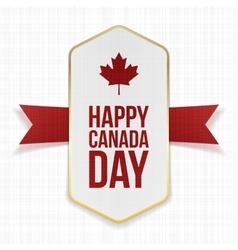 Happy canada day greeting label vector