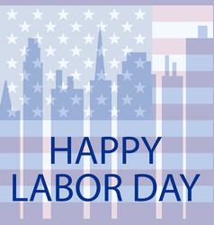 Happy labor day in usa vector