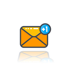 incoming message icon with notification vector image