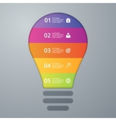 Infographics lamp five options vector