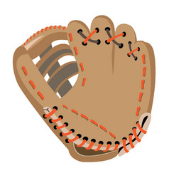 isolated baseball glove vector image