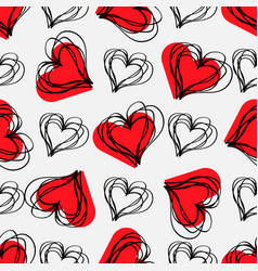 love print abstract seamless pattern with hatched vector image