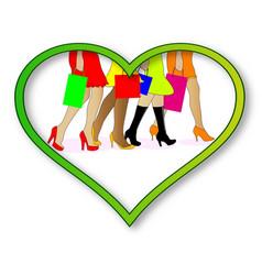 Love shopping vector