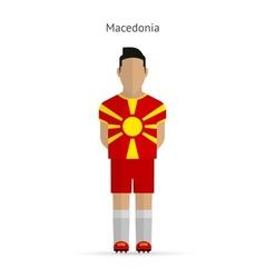 Macedonia football player Soccer uniform vector