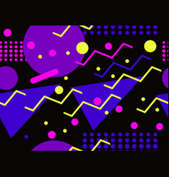 Memphis seamless pattern retro background vector