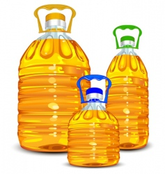 oil bottles vector image vector image