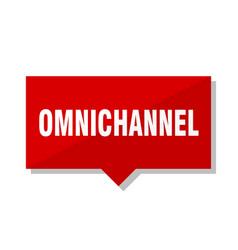 Omnichannel red tag vector