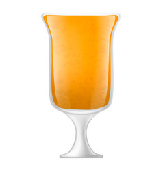 orange smoothies icon realistic style vector image