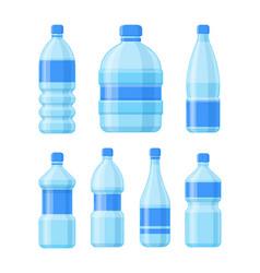 plastic bottle set liquid container bottled cider vector image