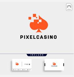 Poker card logo design template typography icon vector