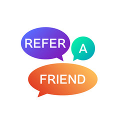 Refer a friend icon vector