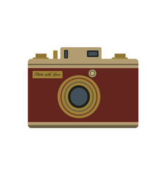 retro camera decorated with inscription photo vector image