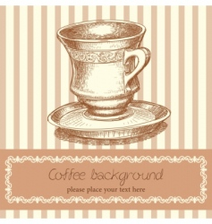retro coffee background vector image
