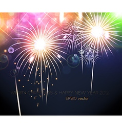 Romantic new year card vector