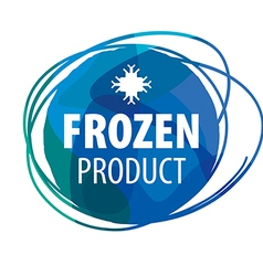 Round blue logo for frozen products vector