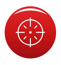 Specific target icon red vector