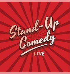 Stand up comedy live vector