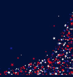 stars for usa holidays vector image