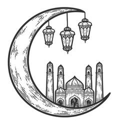 Taj mahal signs and symbols turkey sketch vector