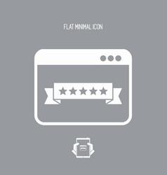 Top rating web - flat minimal icon vector