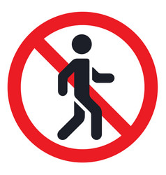 traffic sign prohibiting traffic pedestrians vector image