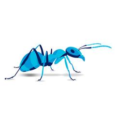 Trendy stylized ant pismire line vector
