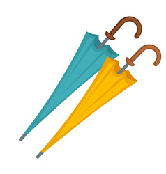 Two closed umbrellas vector