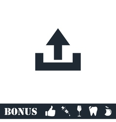 Upload icon flat vector image