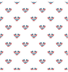usa flag veterans day pattern seamless vector image