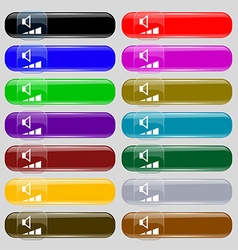volume sound icon sign Big set of 16 colorful vector image