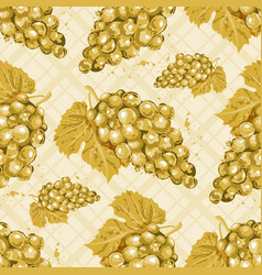 watercolor grapes seamless pattern white wine vector image