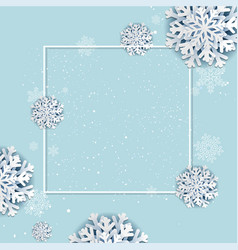 winter poster with frame vector image