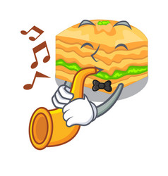 with trumpet baklava in a the character bowl vector image