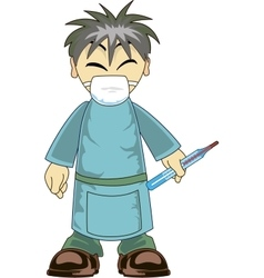Asian Doctor vector image